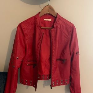 Genuine leather red Jacket